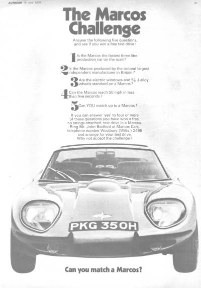 Advert for 3 litre - From 1970 Autocar